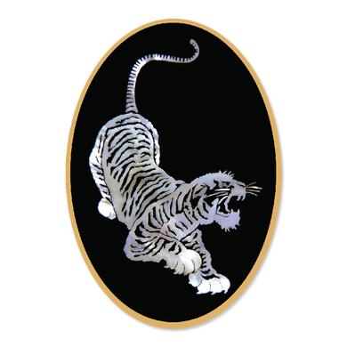 Jerry Garcia Tiger Sticker