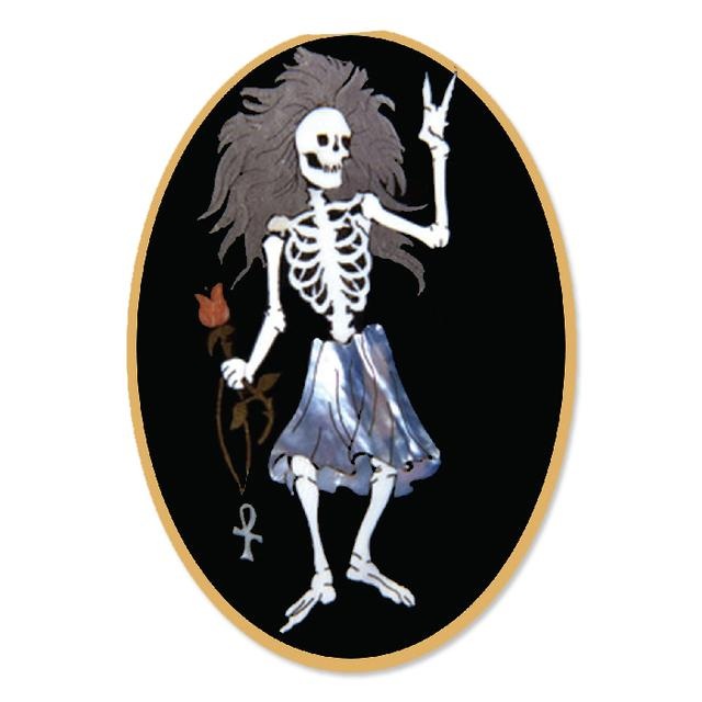 Jerry Garcia Rosebud Sticker