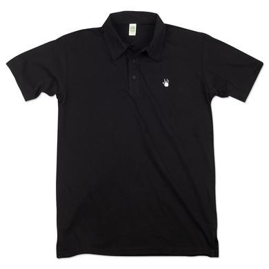 Jerry Garcia Handprint Organic Polo in Black