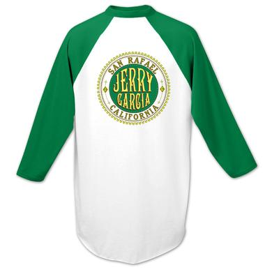 Jerry Garcia Baseball T-Shirt in Green