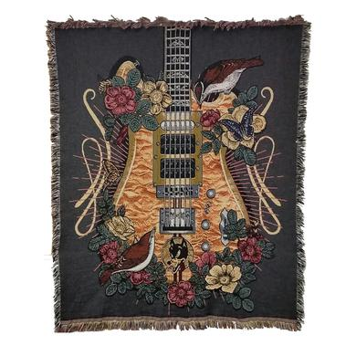 Jerry Garcia Wolf Guitar Blanket