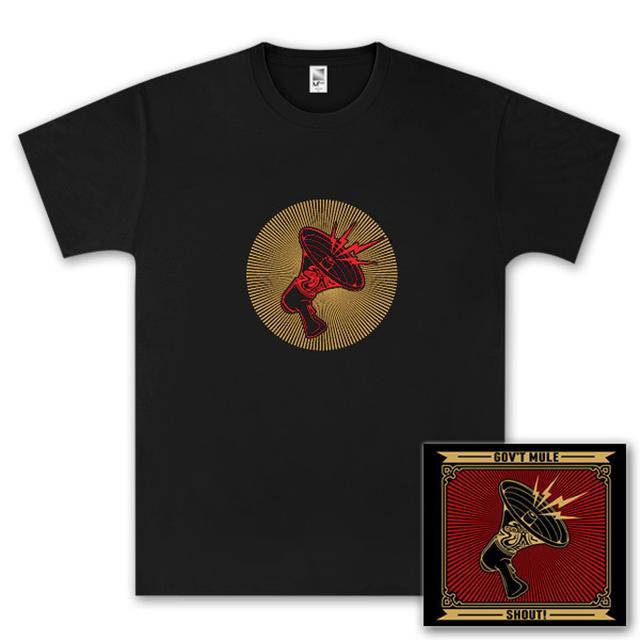 Govt Mule Gov't Mule Shout! CD and T-Shirt Bundle