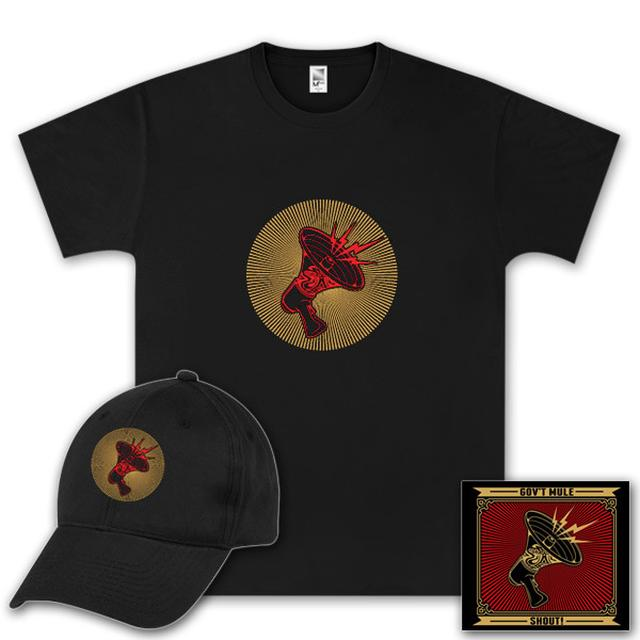Govt Mule Gov't Mule Shout! CD, T-Shirt and Hat Bundle