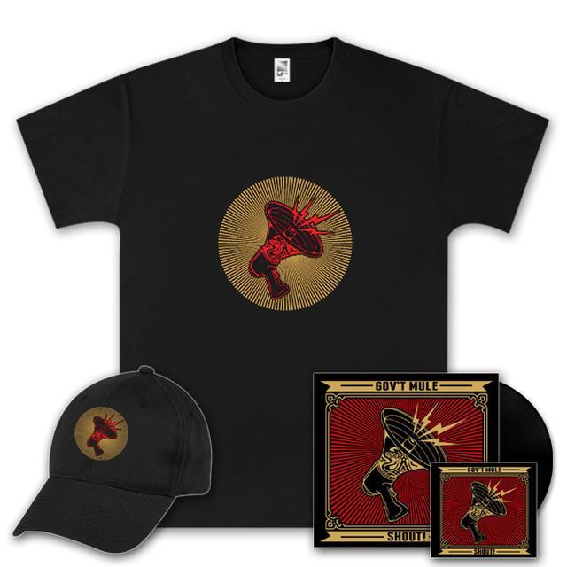 Govt Mule Gov't Mule Shout! Vinyl LP, Digital Download, T-Shirt and Hat Bundle