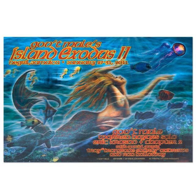Govt Mule Gov't Mule Island Exodus II (2011) Event Poster