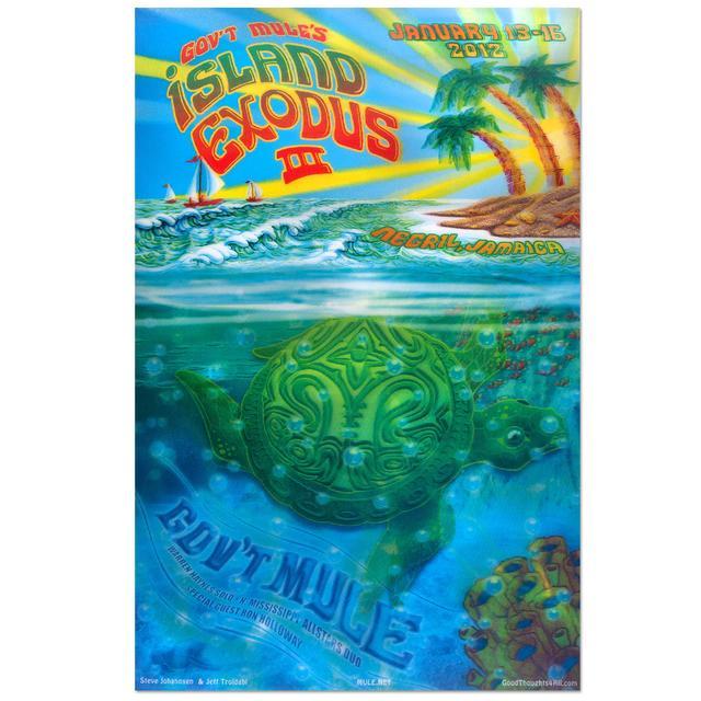Govt Mule Gov't Mule Island Exodus III (2012) Event Poster