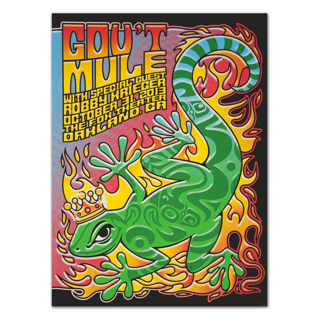 Gov't Mule 2013 Oakland, CA Fox Theatre Event Poster