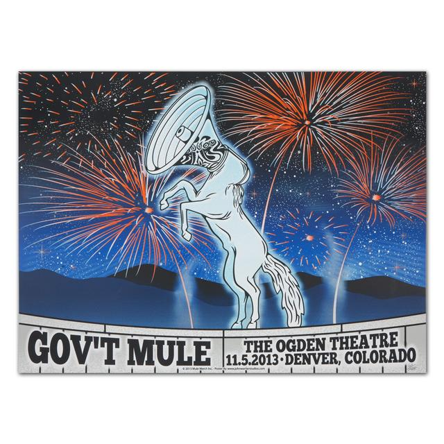 Gov't Mule November 2013 Denver Event Poster