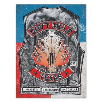 Govt Mule Texas Run '13 Poster