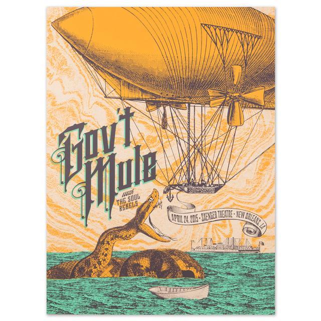 Govt Mule Gov't Mule New Orleans Saenger Theatre 2015 Poster