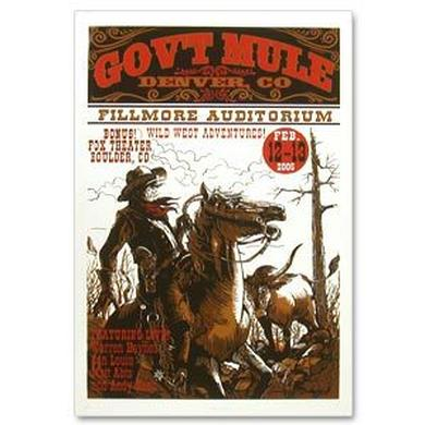 Gov't Mule 2005 Winter Tour Colorado Event Poster