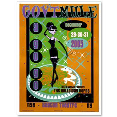 Gov't Mule 2005 New Year's Run Beacon Theatre Event Poster