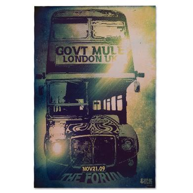 Gov't Mule 2009 The Forum London England Event Poster