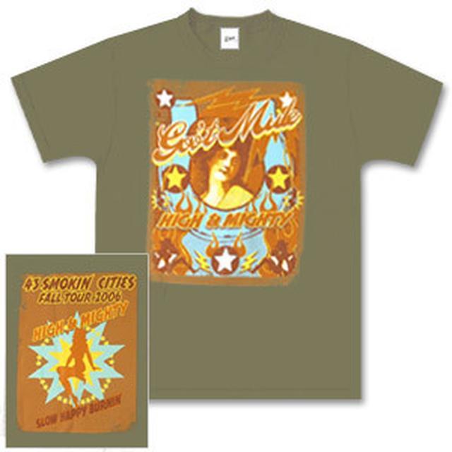Gov't Mule 2006 Fall Tour Rolling Paper Logo T-Shirt