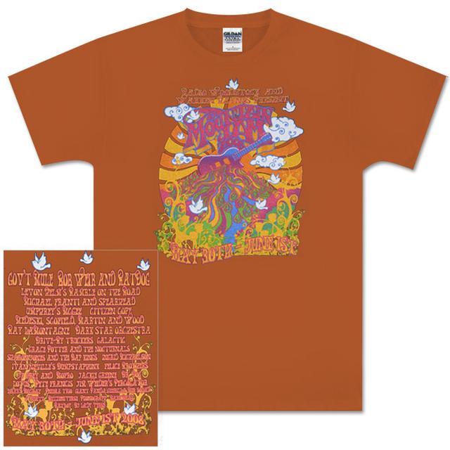 Govt Mule 2008 Mountain Jam Guitar Logo Orange T-Shirt