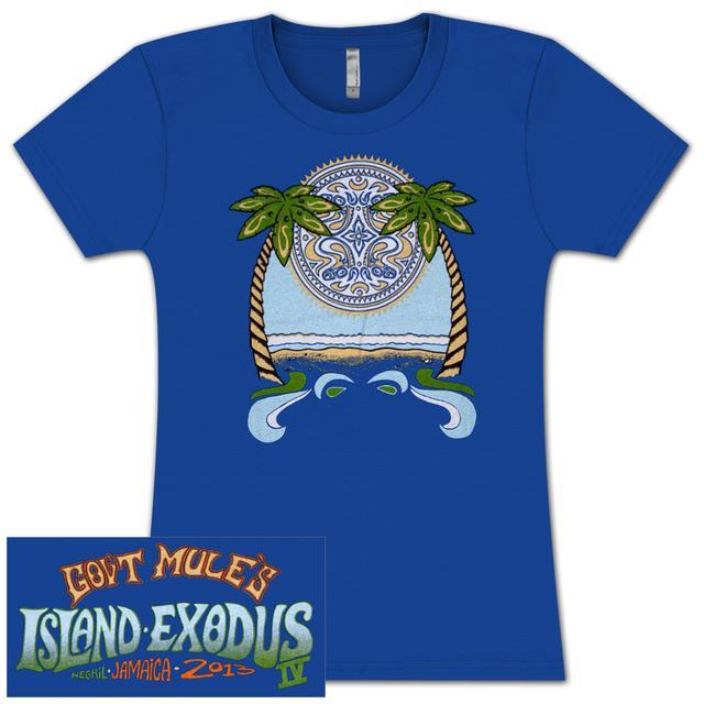 Gov't Mule Royal Blue Ladies 2013 Island Exodus Negril, Jamaica T-Shirt