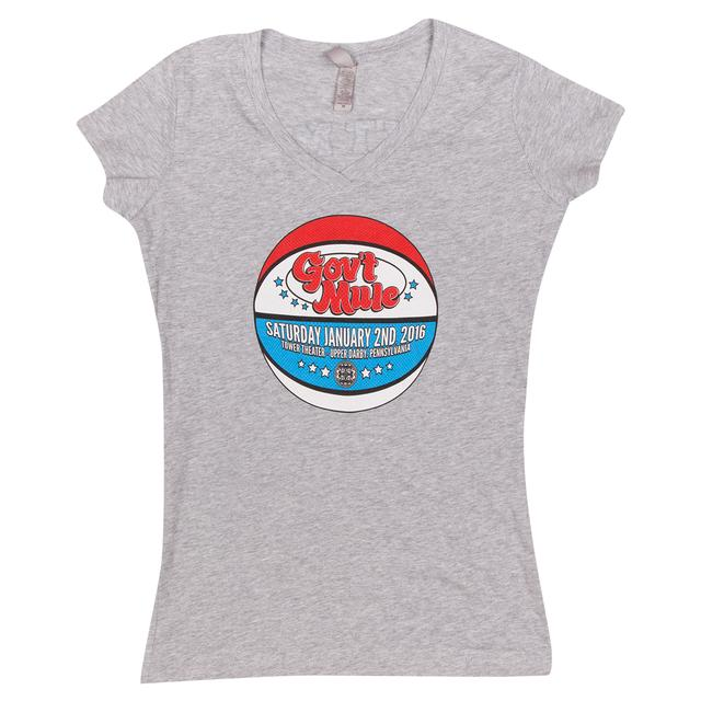 Govt Mule Women's Philly 2016 Basketball Logo Shirt