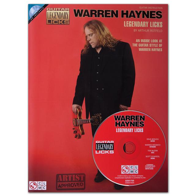 Govt Mule Warren Haynes Legendary Licks Songbook and CD