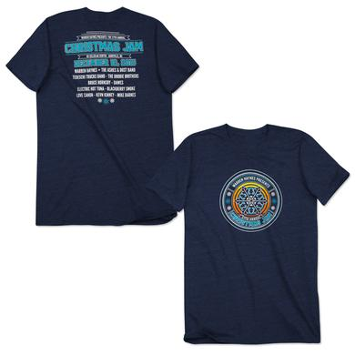 Govt Mule Warren Haynes 2015 Christmas Jam T-Shirt Navy