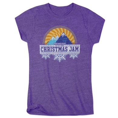 Govt Mule Warren Haynes 2016 Christmas Jam Women's Purple T-Shirt
