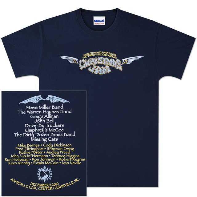 Govt Mule Warren Haynes 2010 Xmas Jam Wings T-Shirt