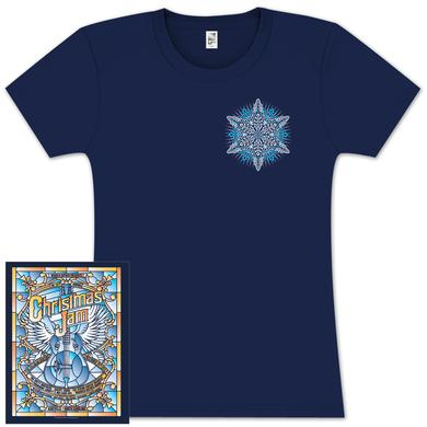 "Govt Mule Warren Haynes 2012 Xmas Jam ""Stained Glass"" Ladies Shirt"