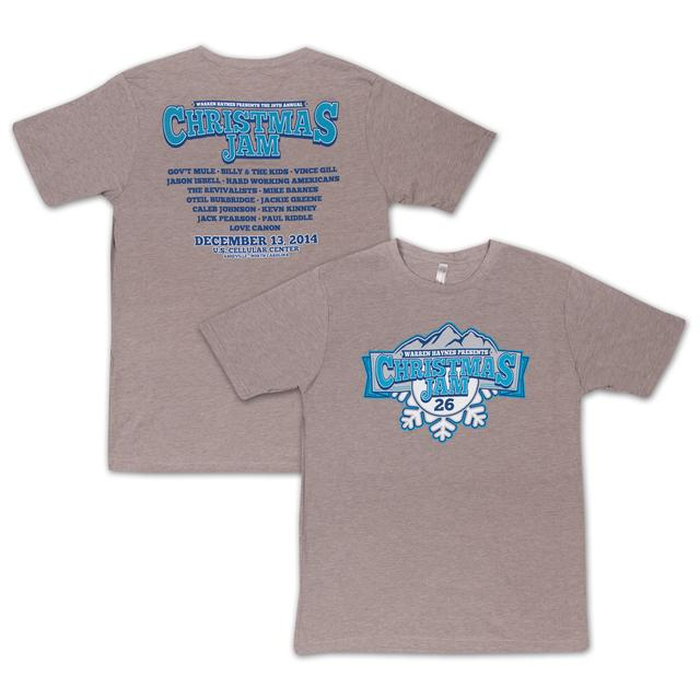 Govt Mule Warren Haynes Christmas Jam 26 Tan T-Shirt