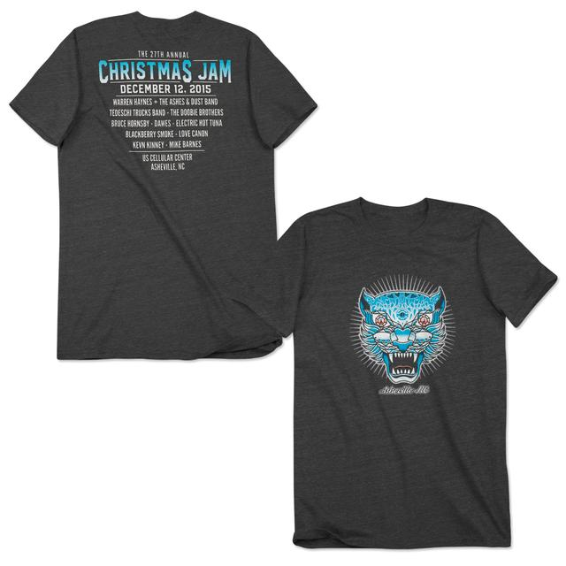 Govt Mule Warren Haynes 2015 Christmas Jam T-Shirt Gray