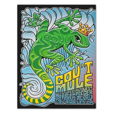 Gov't Mule 2013 Los Angeles, CA Fonda Theatre Event Poster