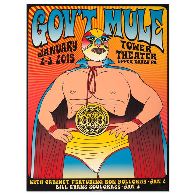 Gov't Mule January 2015 Tower Theater Event Poster