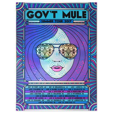 Govt Mule 2017 Summer Tour Poster - purple/blue variant