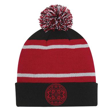 Govt Mule Red/Black Pom Beanie with Dose Logo