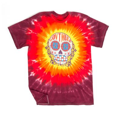 Govt Mule Sugar Skull Fall 2017 World Tour Red Tie Dye Shirt