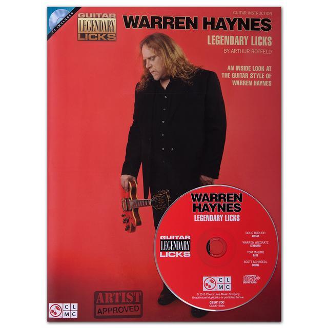 Warren Haynes Legendary Licks Songbook and CD