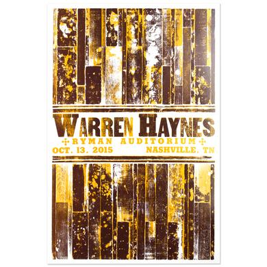 Warren Haynes October 2015 Nashville, TN Event Poster