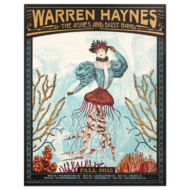 Warren Haynes Fall Tour 2015 Ocean Poster