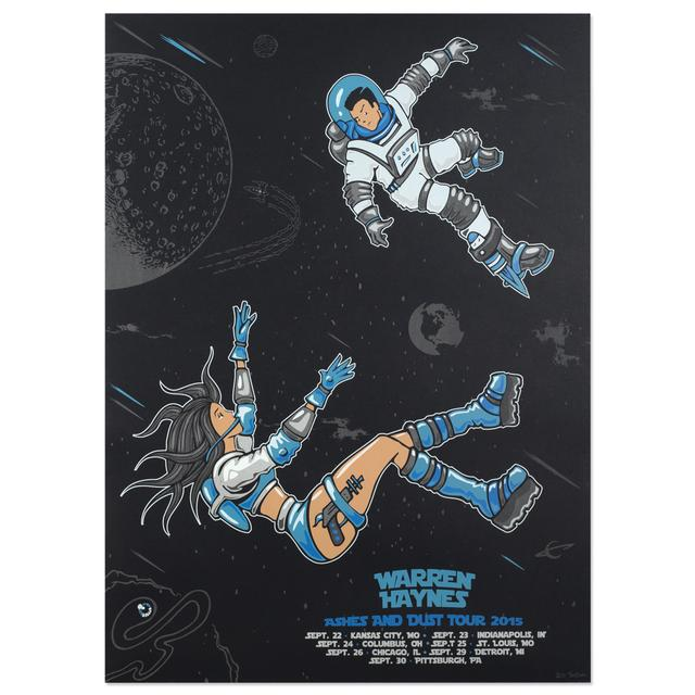 Warren Haynes Fall Tour 2015 Space Poster