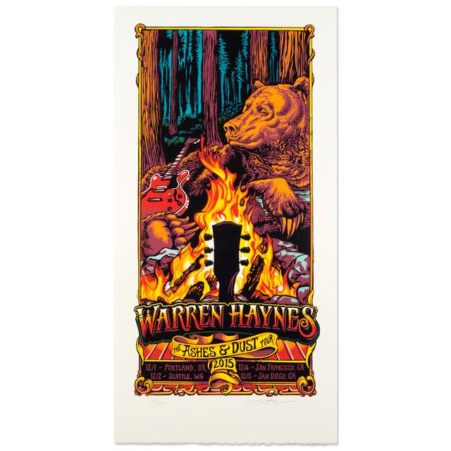 Warren Haynes Fall Tour 2015 Poster
