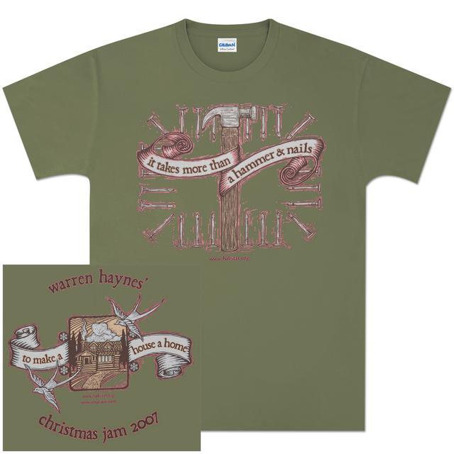 Warren Haynes 2007 Xmas Jam Hammer Light Green T-Shirt