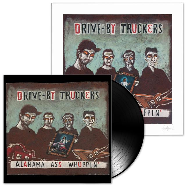 Drive-By Truckers Alabama Ass Whuppin' LP & Print Combo (Vinyl)
