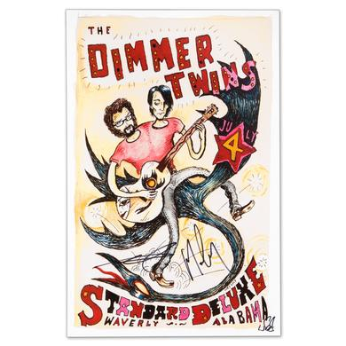 Drive-By Truckers The Dimmer Twins - July 4, 2013 Waverly, AL Autographed Poster