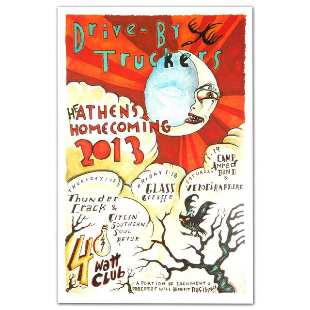 Drive-By Truckers January 2013 Athens Homecoming Poster