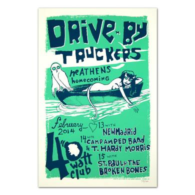 Drive-By Truckers 2014 Green 40 Watt Poster