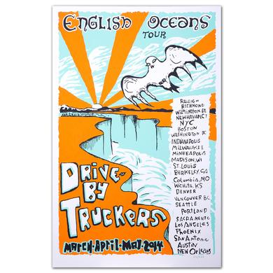 Drive-By Truckers DBT March-April 2014 English Oceans Tour Silkscreen Poster