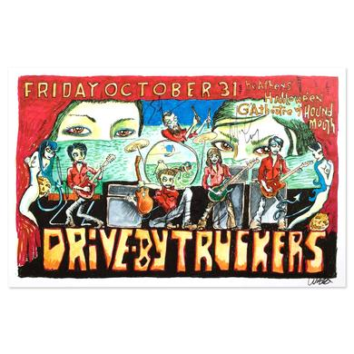 Drive-By Truckers October 31, 2014 Georgia Theatre Autographed Poster