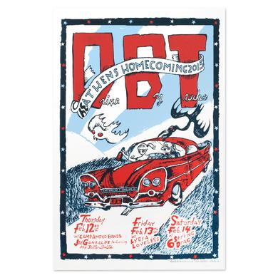 Drive-By Truckers February 2015 Athens Silkscreen Poster