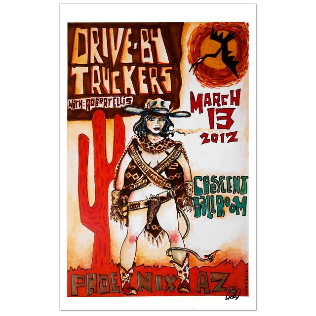 Drive-By Truckers 2012 Phoenix Poster