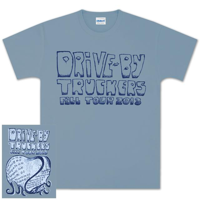 Drive-By Truckers DBT Men's Fall Tour Tee Blue