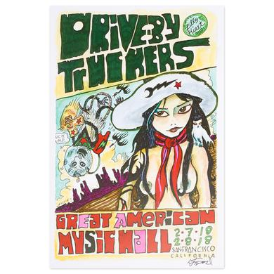 Drive-By Truckers San Francisco Feb 2018 Poster