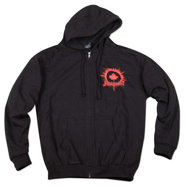 Journey 2015 Tour Zip Hoodie Leaf Logo